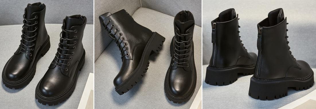 low boots femme noir talon 5 cm