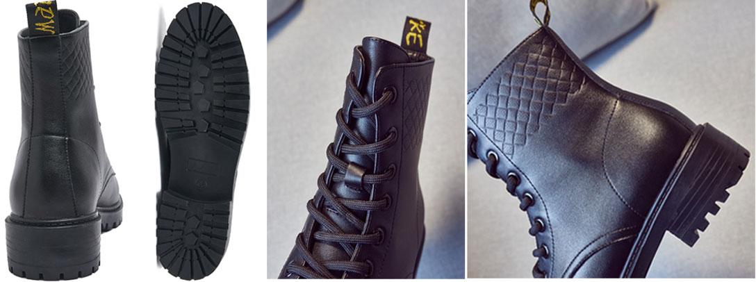 low boots femme noir talon bas pas cher