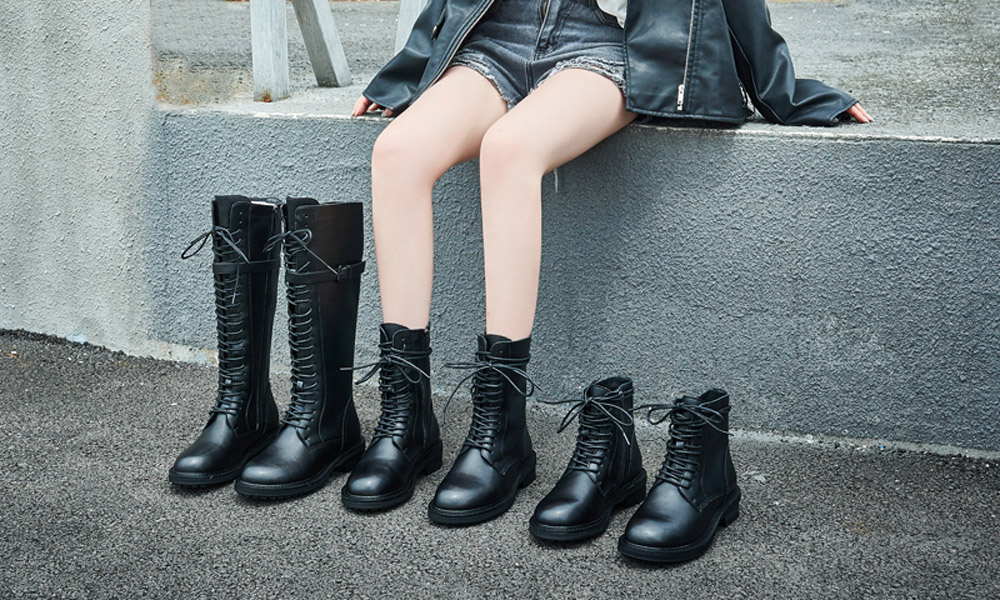 boots motard femme noir