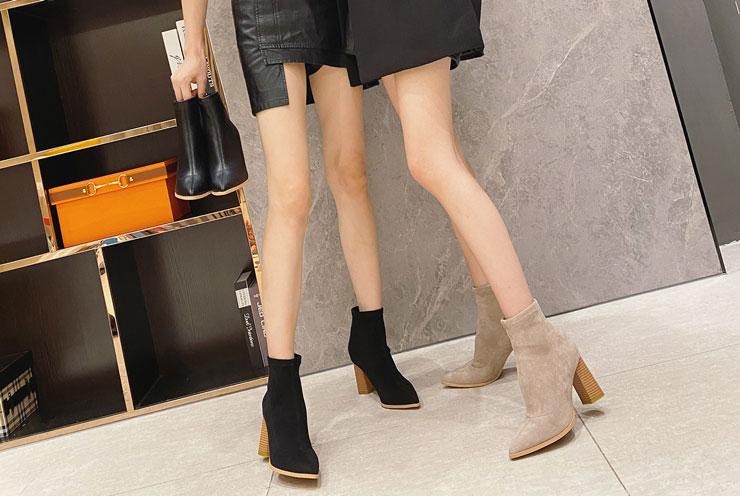 low boots femme talon haut pas cher