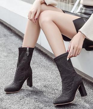 bottes chaussettes pas cher à talon haut livraison gratuite
