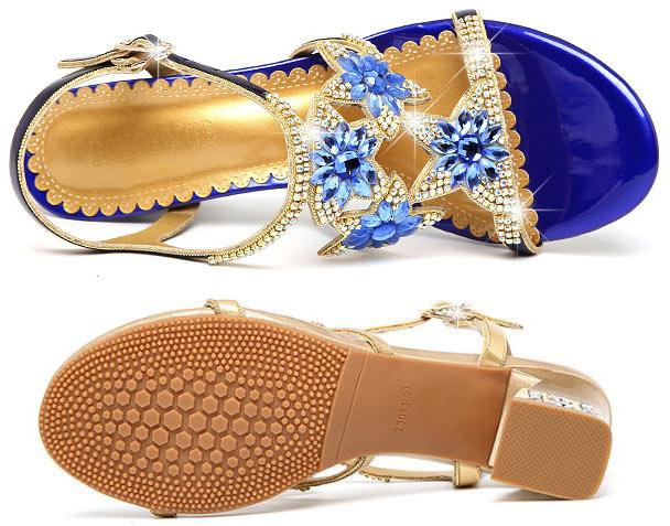 sandale de soirée femme bleu strass pas cher tendance 2019 livraison gratuite