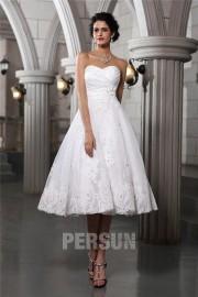 Solde robe de mariée courte blanche taille 32
