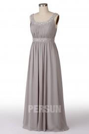 Solde robe longue de soirée grise taille 48