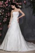 Solde robe de mariée dentelle blanche taille 38