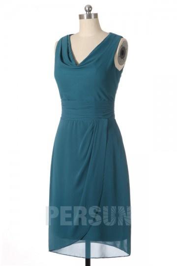 Soldes robe demoiselle d'honneur verte courte