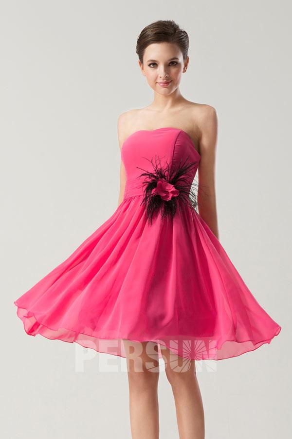 c99387f325c6f Petite robe bustier simple ornée de fleur pour mariage d été ...