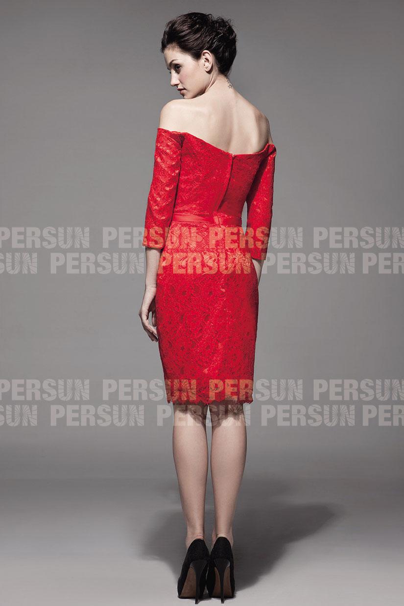 robe rouge de cocktail dos échancré