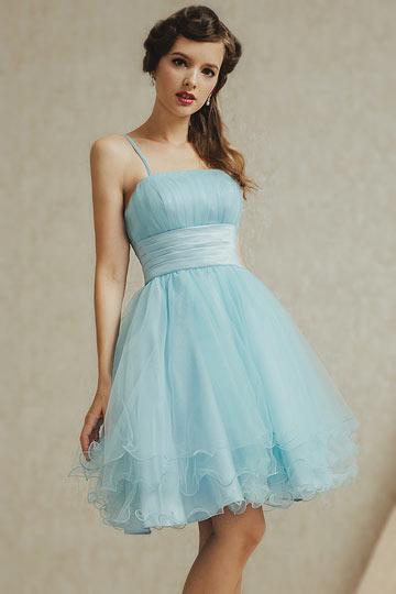 Robe de soiree bleu pastel