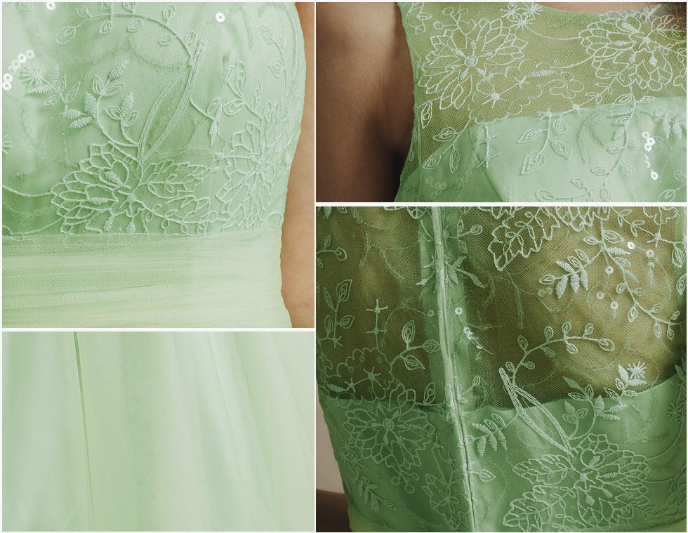 robe de soirée princesse avec borderie délicate