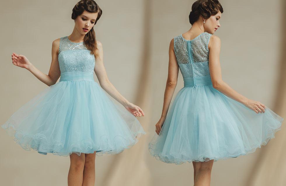 robe tutu vintage bleu clair