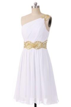 Solde robe courte de soirée blanche Taille 40