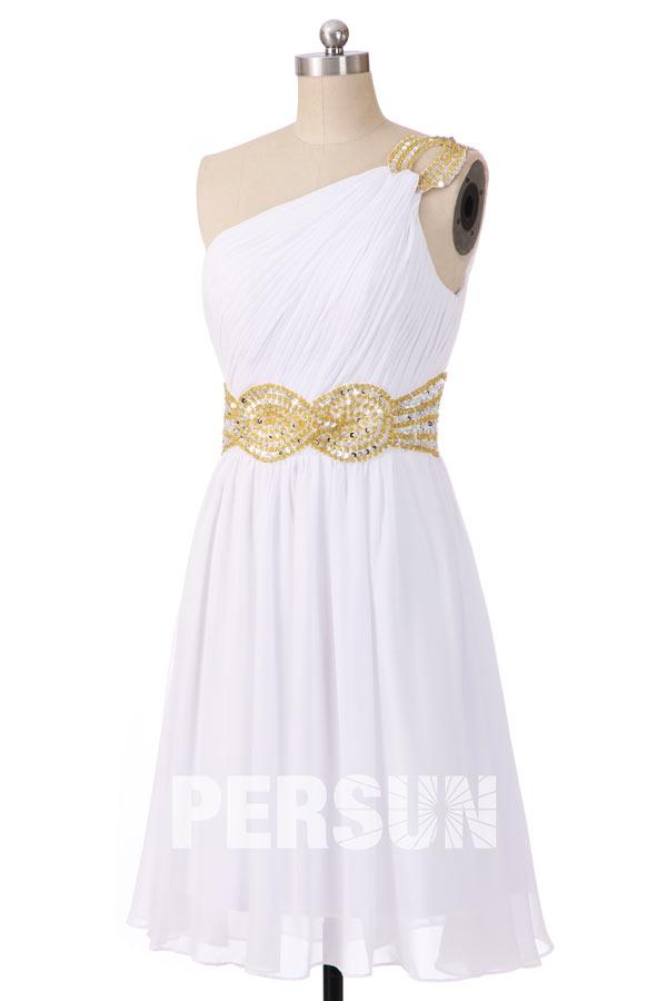 Soldes robe courte de soirée blanche Taille 40