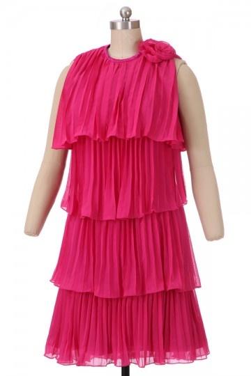 Soldes robe de cocktail fuchsia courte taille 38