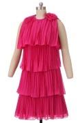 Solde robe de cocktail fuchsia courte taille 38