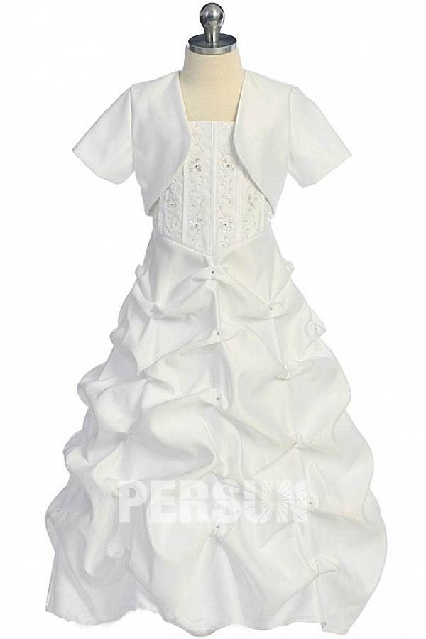Robe cortège fille princesse ruché