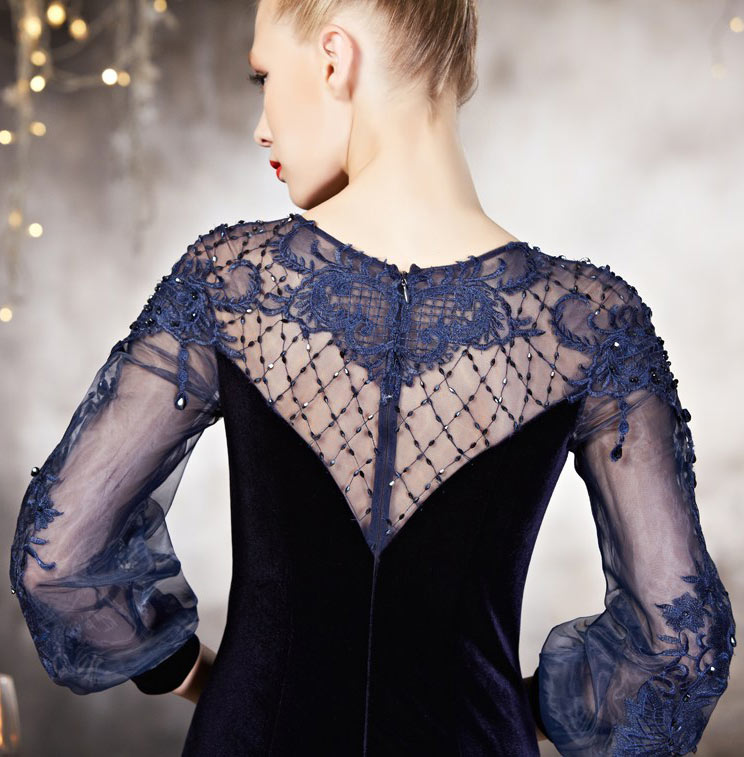 robe de soirée femme dos transparent