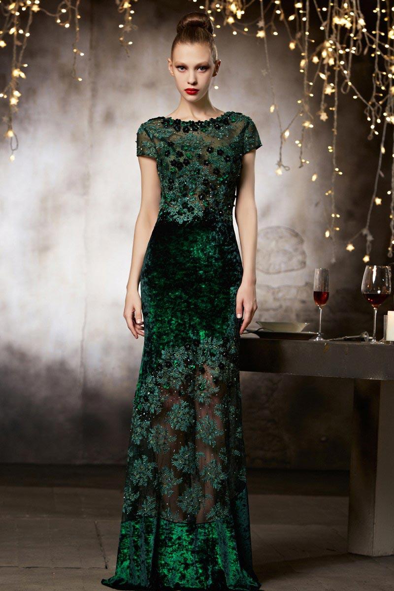 92e0e0a6427 Robe de soirée sexy haute couture en dentelle transparente ...