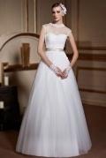 Prinzessin Ärmellos Transparent Tüll Brautkleider mit Leibbinde