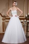 Classique Robe de mariée princesse en tulle bustier coeur brodée de sequins & bijoux