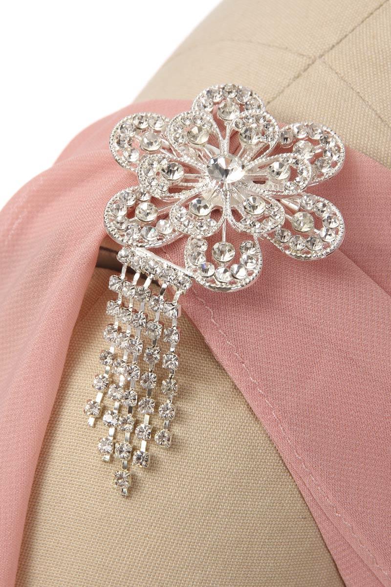 Robe cocktail mariage rose carnation courte pas cher avec cape