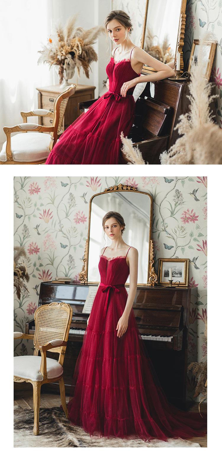 robe rouge élégante pour Noël
