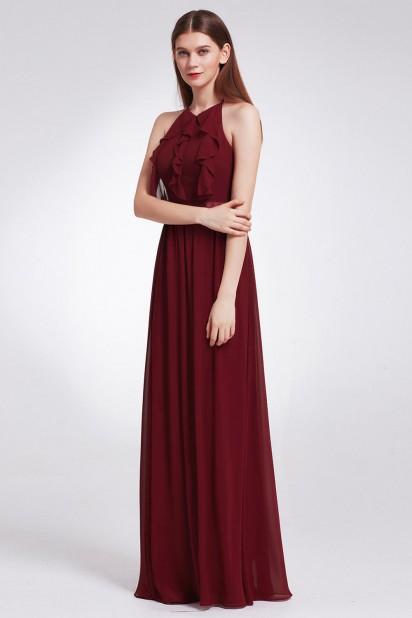 Robe demoiselle d'honneur lilas bustier froufrou pour cortège mariage