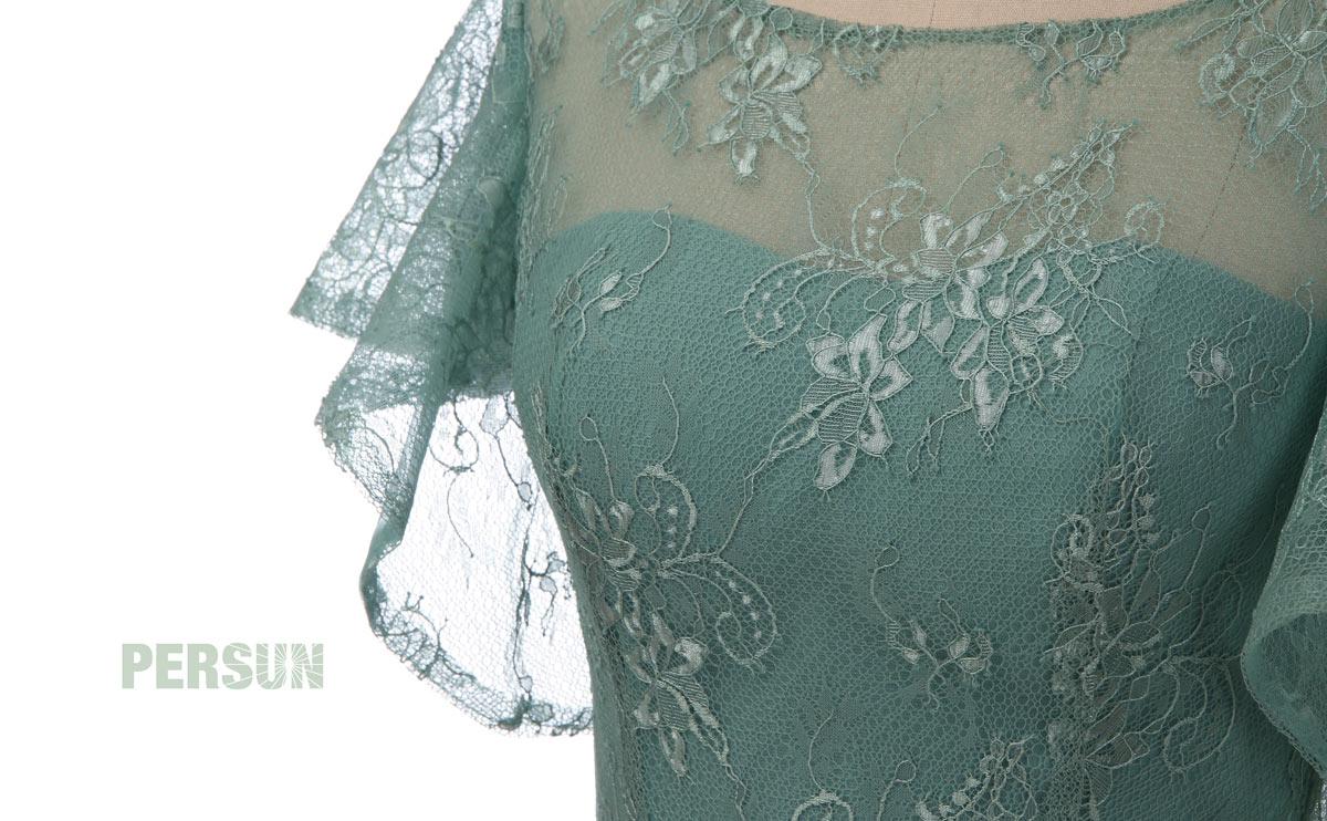 robe en dentelle vert menthe pour cérémonie