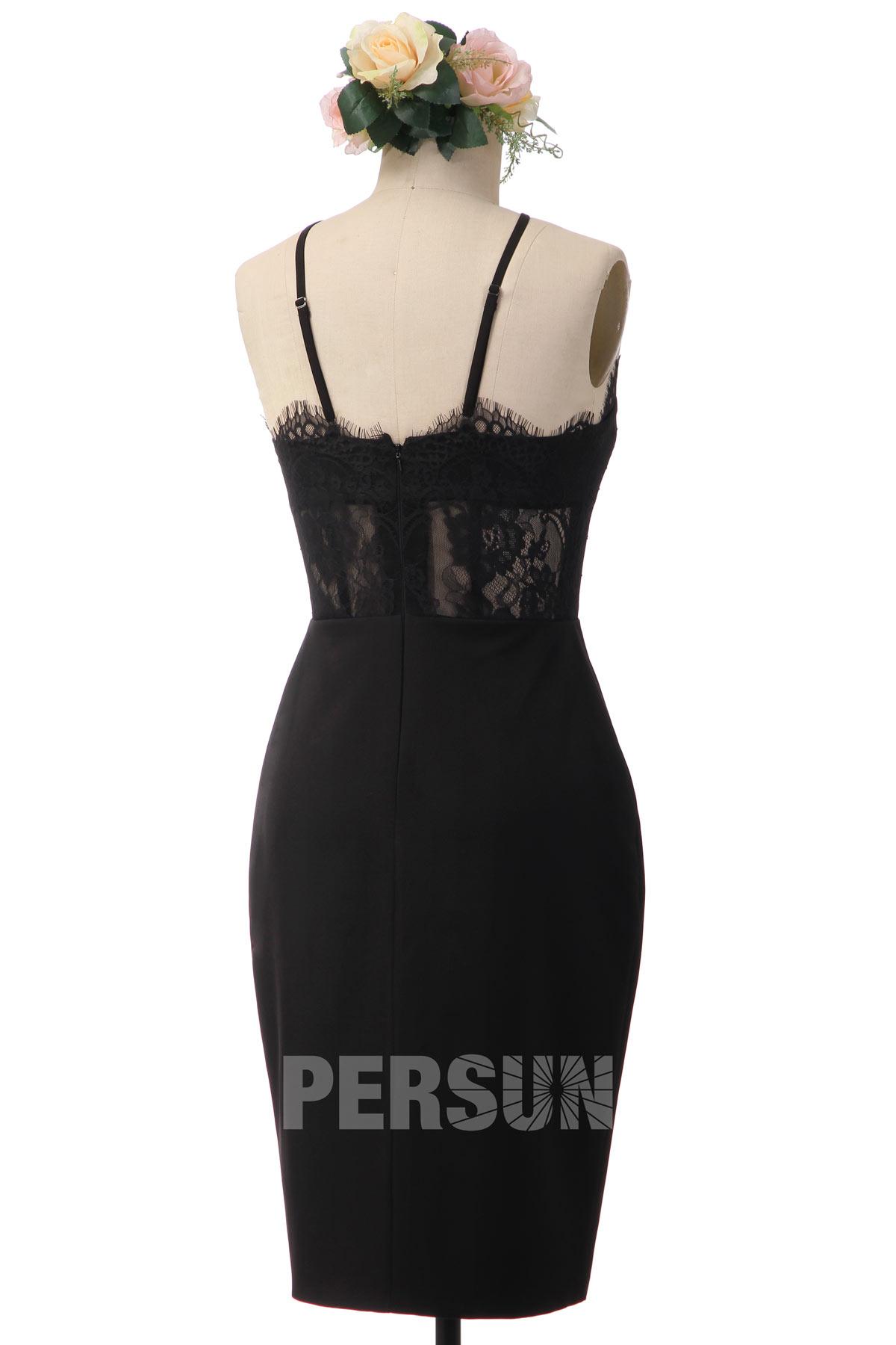 robe de soirée courte fourreau jersey noir