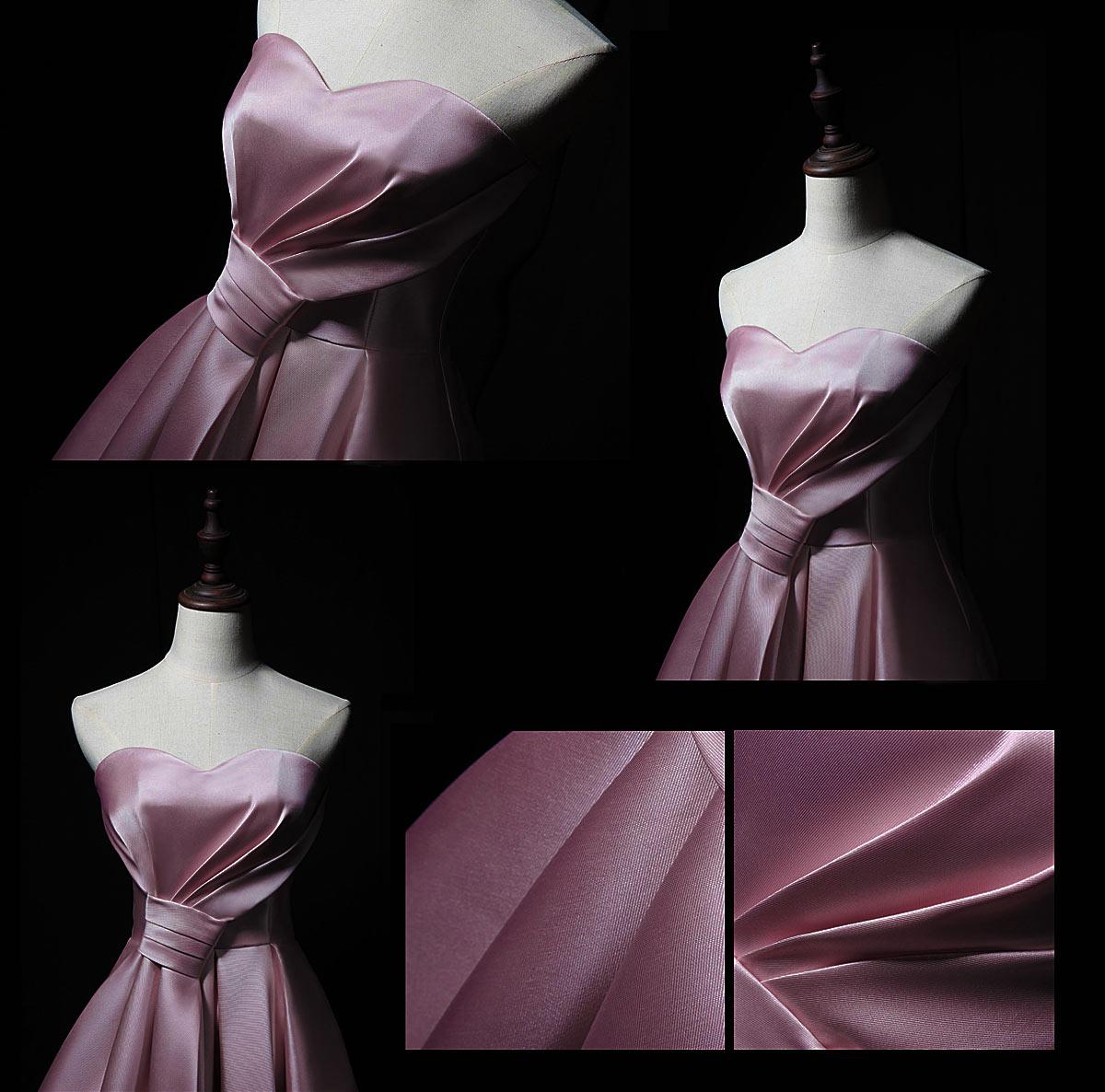 robe rose pour témoin de mariage bustier coeur avec noeud papillon