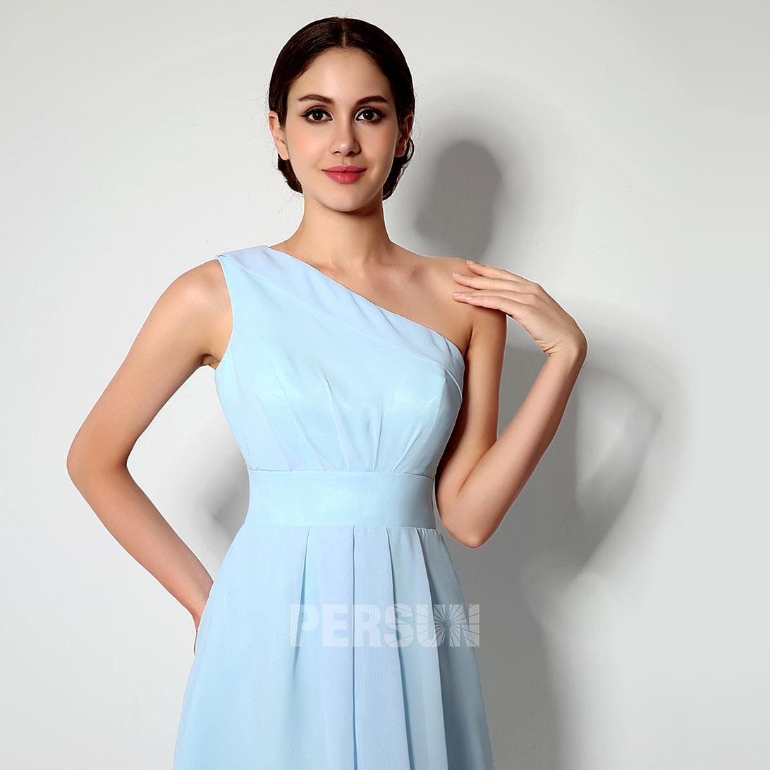 robe courte demoiselle d'honneur pas cher pour mariage thème bleu