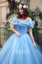 Robe de mariée princesse bleu pour cosplay Cendrillon