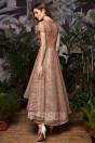 Robe de bal rose d'or court devant long derrière