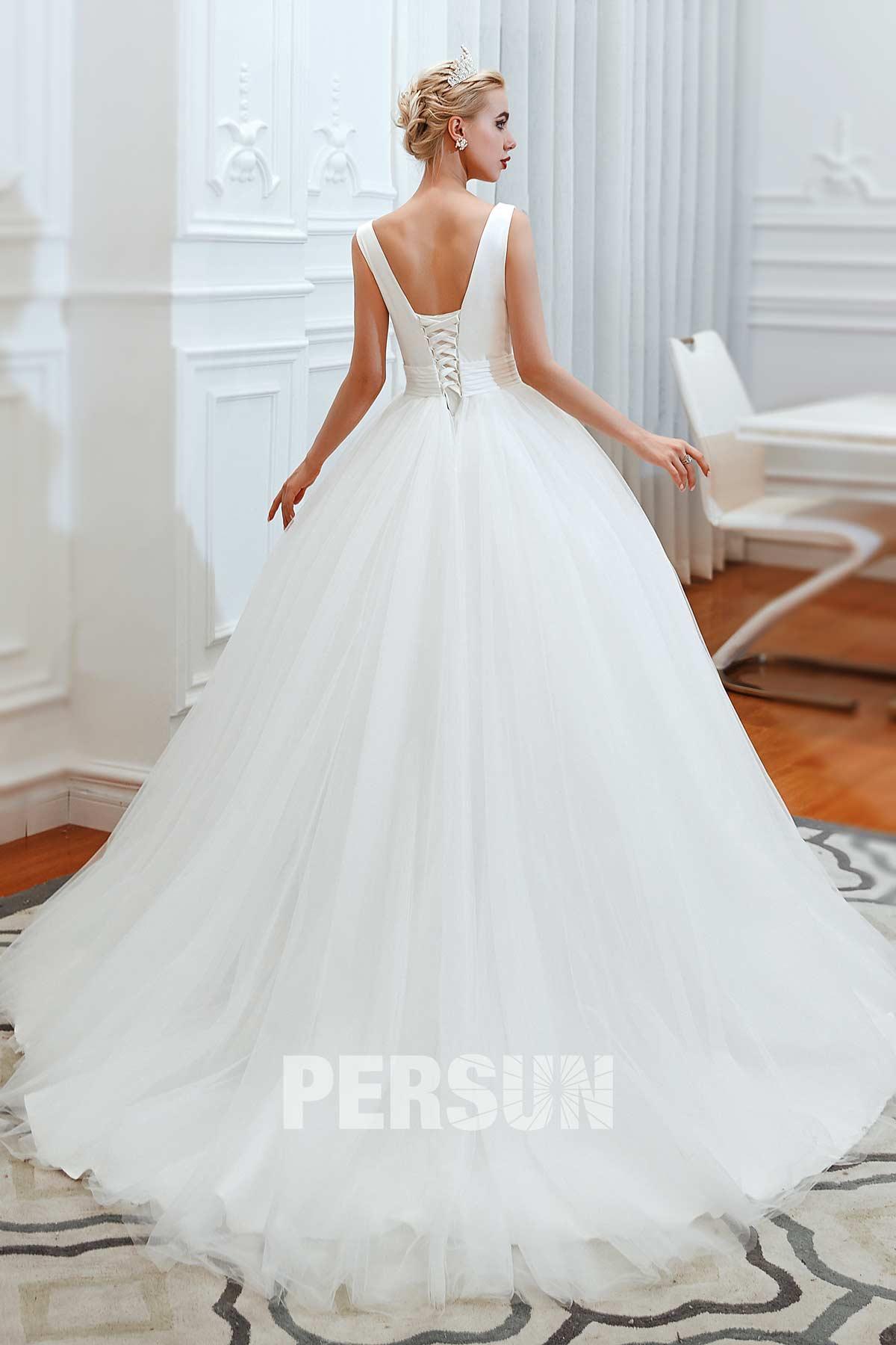 robe de mariée princesse pas cher avec traîne