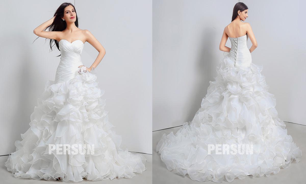robe de mariage trompette 2020 pas cher