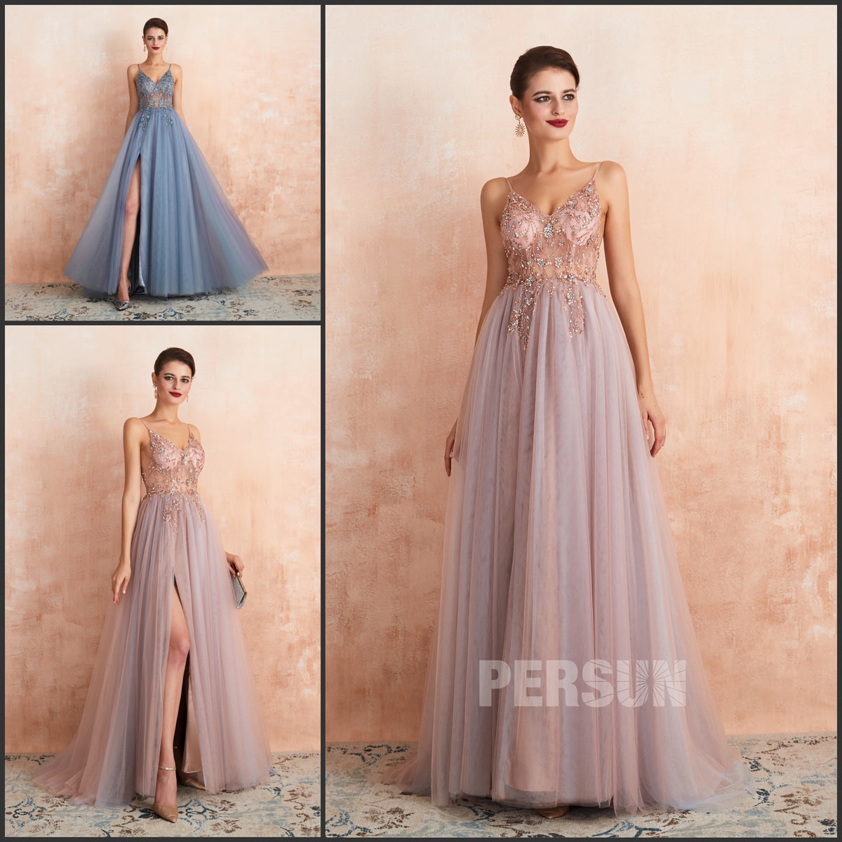 sexy robe gala bicolore promo 2020