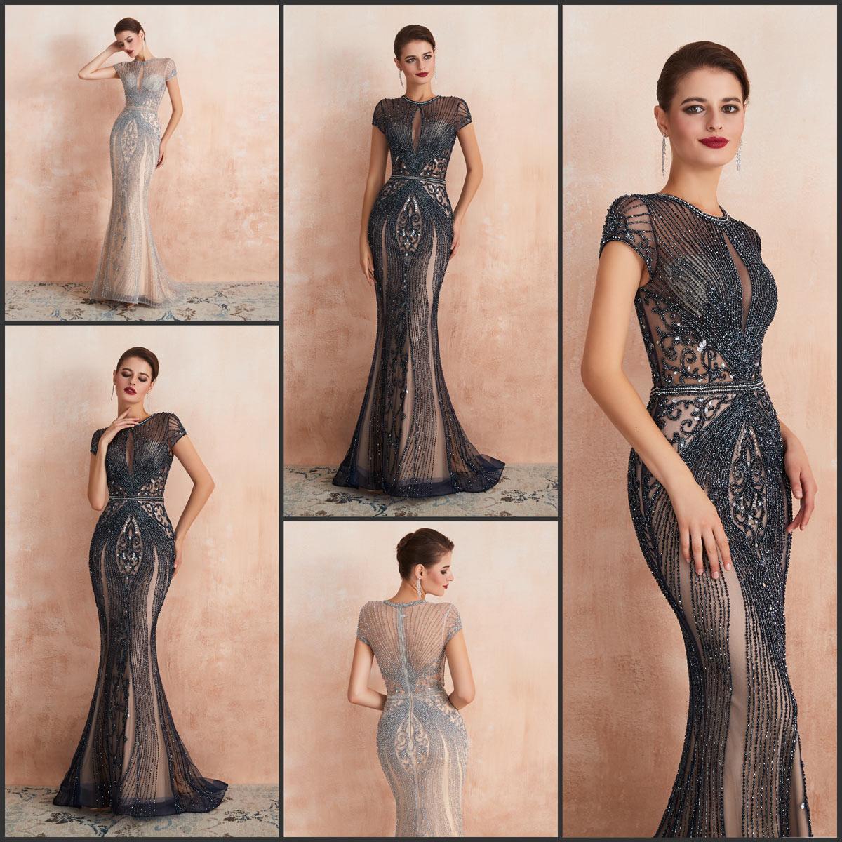 robe de cérémonie de luxe coupe sirène 2020