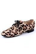 Richelieux chaussures à lacets imprimées panthère