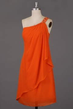 Soldes robe de cocktail orange court taille 42