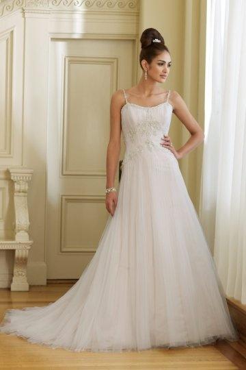robe de mariée bretelle fine