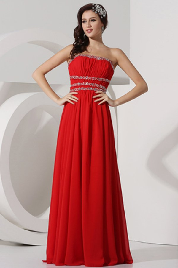 robe rouge empire pour occasion dos nu