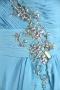 Robe de bal Ligne A bustier bustier coeur ornée de bijoux asymétrique en Mousseline