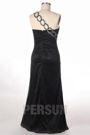 3978c21c7c9 Robe noire longue bustier asymétrique pour soirée de mariage ou ...