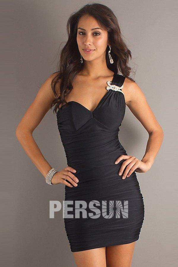 acheter robe moulante noir courte pour cocktail