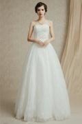 A-Linie Sweetheart Bodenlanges ivory Brautkleider aus Spitze