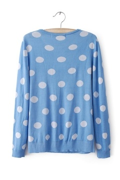 Large Polka Dot Knitted Sweater