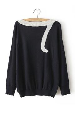 Cute Cat Pattern Stitching Sweater