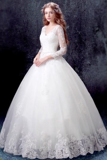 Classique robe de mariée princesse 2017 avec
