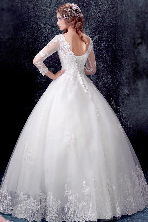 classique robe de mari e princesse 2017 avec manches longues en dentelle