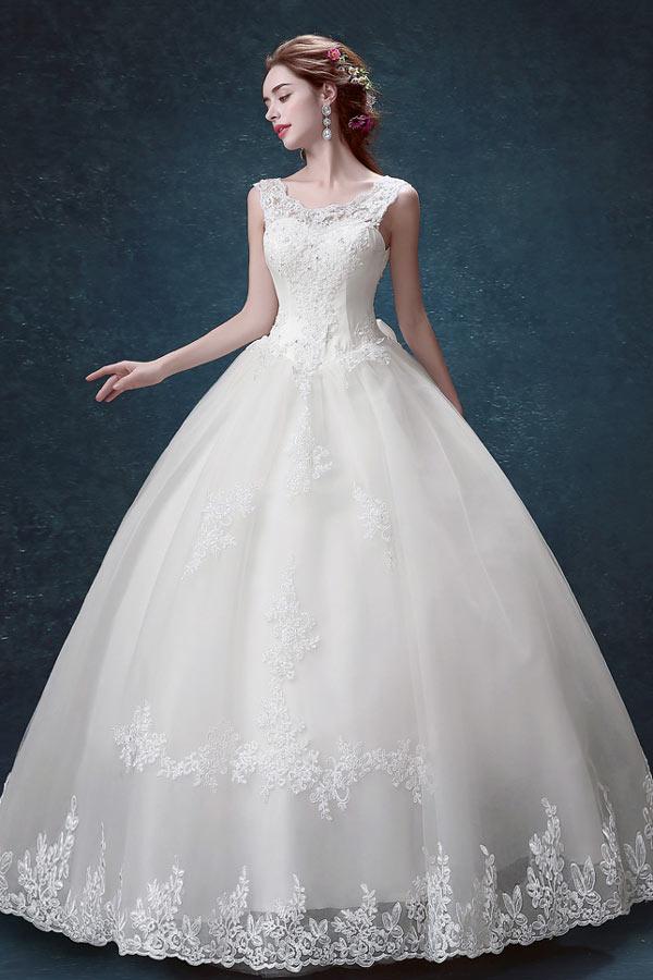 Vintage robe de mariée 2017 dentelle coupe princesse